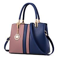 baratos Bolsas Tote-Mulheres Bolsas PU Bolsa de Ombro / Zíper Fru-Fru Sólido Rosa escuro / Azul Real / Lavanda