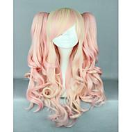 Pink Mixed Wig Pretty Lolita Wig Gothic Lolita Pink Wig Ponytails Princess Cosplay Long Wavy Wig