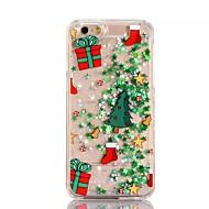 Kompatibilitás iPhone X iPhone 8 iPhone 8 Plus iPhone 7 iPhone 6 iPhone 5 tok tokok Folyékony Áttetsző Minta Hátlap Case Karácsony Kemény
