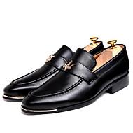 Χαμηλού Κόστους Ανδρικά παπούτσια-Ανδρικά Δερμάτινα παπούτσια Δέρμα Άνοιξη / Φθινόπωρο Ανατομικό Oxfords Περπάτημα Αντιολισθητικό Μαύρο / Καφέ / Μπορντώ / Πάρτι & Βραδινή Έξοδος