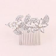 billiga Brudhuvudbonader-Bergkristall Hair Combs 1 Bröllop Speciellt Tillfälle Kontor & Karriär Hårbonad