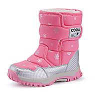 Støvler-PU-Komfort-Piger-Sort Rosa Lilla-Fritid-Flad hæl