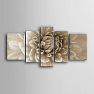 Недорогие -Отпечатки на холсте ботанический 5 панелей Вертикальная С картинкой Декор стены Украшение дома