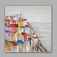 Handgeschilderde Abstract / Landschap Olie schilderijen,Modern / Klassiek Eén paneel Canvas Hang-geschilderd olieverfschilderij For