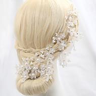 billiga Brudhuvudbonader-Kristall / Oäkta pärla / Legering Blommor med 1 Bröllop / Speciellt Tillfälle / Utomhus Hårbonad