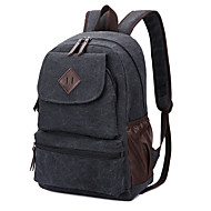 Unisex Bags All Seasons Canvas Backpack for Casual Sports Outdoor Black Brown Khaki