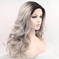 halpa Peruukkijuhla-Synteettiset pitsireunan peruukit Luonnolliset aaltoilevat Liukuvärjätyt hiukset Musta Naisten Lace Front Carnival Peruukki Halloween