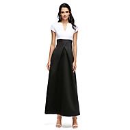 A-linje Med åbning Ankellængde Satin Skolebal Formel aften Kjole med Bælte / bånd ved TS Couture®