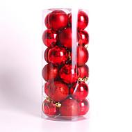 現代のクリスマスツリークリスマスボールの飾りオーナメント24個 4センチメートルパーティー結婚式をつまらないです