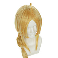 Full Metal Alchemist Edward Elric Special Gold Styling Halloween Wig Synthetic Wig Costume Wigs