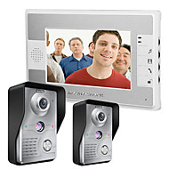 cheap -MOUNTAINONE 7 Inch Video Door Phone Doorbell Intercom Kit 2-camera 1-monitor Night Vision