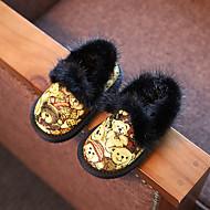 tanie Obuwie dziewczęce-Dla dziewczynek Buty Materiał Comfort Mokasyny i pantofle na Casual Gray Yellow Khaki