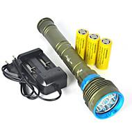 ieftine -Lanterne LED LED 10000 lm 1 Rezistent la apă Camping / Cățărare / Speologie