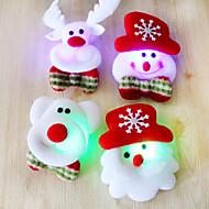 12pçs de Santa do Natal broche broche de flash tela luminosa decoração do Natal presente de Natal (estilo aleatório)