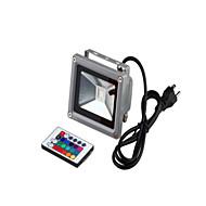 baratos Focos-1pç 10 W Focos de LED / Luzes do gramado Impermeável / Controlado remotamente / Regulável RGB 85-265 V Iluminação Externa / Pátio / Jardim