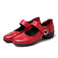 billige Dansesneakers-Dame Sko til latindans / Jazz-sko / Dansesko Lær Joggesko Tykk hæl Kan ikke spesialtilpasses Dansesko Svart / Rød / Trening