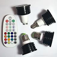 halpa -4kpl 400lm E14 GU10 E26 / E27 B22 LED-kohdevalaisimet MR16 1pcs LED-helmet Teho-LED Himmennettävissä Koristeltu Kauko-ohjattava