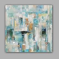 Peint à la main Abstrait Peintures à l'huile,Modern / Classique Un Panneau Toile Peinture à l'huile Hang-peint For Décoration d'intérieur
