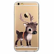 Capinha Para Apple iPhone X iPhone 8 Plus iPhone 7 iPhone 6 Capinha iPhone 5 Ultra-Fina Estampada Capa Traseira Natal Macia TPU para