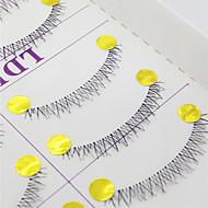 ריסים ריס ריסים תחתונים עיניים שתי וערב עבודת יד סיב Transparent Band 0.10mm 6mm