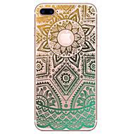 Til iPhone X iPhone 8 iPhone 7 iPhone 6 iPhone 5 etui Etuier Transparent Præget Mønster Bagcover Etui Blonde Tryk Blødt TPU for Apple