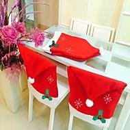 muoti santa lauseke cap punainen hattu huonekalut tuoli takakansi joulu ruokapöydässä osapuoli joulu uusi vuosi koristelu