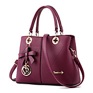 cheap Totes-Women's Bags PU Zipper / Shoulder Bag Ruffles for Event / Party / Formal / Office & Career Purple / Wine / Royal Blue