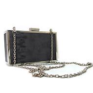 baratos Clutches & Bolsas de Noite-Mulheres Bolsas PU / Metal Bolsa de Mão Metálico Sólido Cinzento