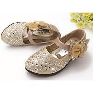 baratos Sapatos de Menina-Para Meninas Sapatos Couro Ecológico Conforto Rasos para Prata / Azul / Rosa claro