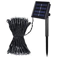Jiawen 8 modos de 10m 100 leds arrefecer energia solar impermeável ao ar livre branco ou branco quente LED luzes da corda