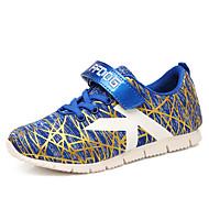 baratos Sapatos de Menino-Para Meninos Sapatos Sintético Primavera Conforto Tênis Caminhada Velcro para Preto / Vermelho / Azul