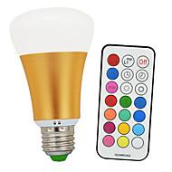 billige Globepærer med LED-900-1200 lm E26 / E27 LED-globepærer A60(A19) 1 LED perler COB Infrarød sensor / Mulighet for demping / Fjernstyrt Kjølig hvit / RGB 85-265 V / 1 stk. / RoHs