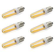 billige Bi-pin lamper med LED-480 lm E14 LED-lamper med G-sokkel T 4 leds COB Varm hvit Kjølig hvit AC 220-240V AC 85-265V