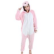 Pijamas Kigurumi Dragão Dinossauro Pijamas Macacão Ocasiões Especiais Mink Velvet Rosa claro Cosplay Para Adulto Pijamas Animais desenho