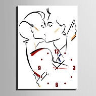 E-HOME® Kiss of Love Clock in Canvas 1pcs
