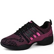 billige Dansesneakers-Kan ikke spesialtilpasses-Dame-Dansesko-Moderne-Syntetisk-Lav hæl-Svart / Hvitt