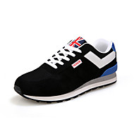 Men's Athletic Shoes Spring Fall Comfort Tulle Casual Flat Heel Lace-up Black Blue Red