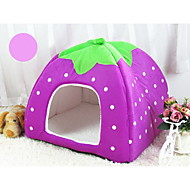 Cat Dog Bed Pet Baskets Fruit Soft Purple Brown Ruby Blue Blushing Pink