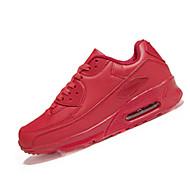 Feminino-Tênis-Conforto-Rasteiro-Preto Rosa Vermelho Branco-Couro Ecológico-Casual Para Esporte