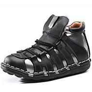 baratos Sapatos de Tamanho Pequeno-Homens Botas de Neve Pele Napa Outono / Inverno Conforto Botas Aventura Preto / Festas & Noite