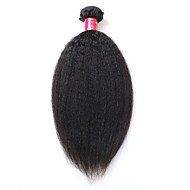 8A Brazilian Virgin Hair Kinky Straight 1 Bundles 100% Human Hair Brazillian Yaki Straight Hair Brazilian Virgin Hair Coarse Yaki