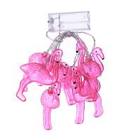 vakantie licht led strip flamingo 10 lamp balls / set leidde string voor huwelijksfeest kerstverlichting kerst decoratie