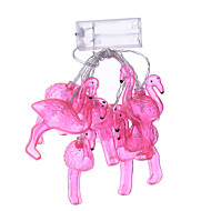 ferie lys førte strimmel flamingo 10 lampe bolde / sæt førte streng for brylluppet part kulørte lamper jul dekoration