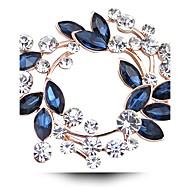 女性用 クリスタル ブローチ  -  イミテーションダイヤモンド, オーストリアクリスタル ぜいたく ブローチ フクシャ / ゴールデン / ホワイト / ホワイト 用途 結婚式 / パーティー / 日常
