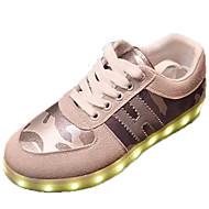 ユニセックス-カジュアル アスレチック-スエード-フラットヒール-コンフォートシューズ 幼児用靴 アンクルストラップ 靴を点灯-スニーカー-ブラック グレイ