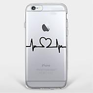 のために 超薄型 / クリア / パターン ケース バックカバー ケース ハート ソフト TPU Apple iPhone 7プラス / iPhone 7 / iPhone 6s Plus/6 Plus / iPhone 6s/6 / iPhone SE/5s/5