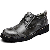 Men's Oxfords Spring / Summer / Fall / Winter Comfort Nappa Leather Outdoor / Athletic / Casual Brown / Gray Sneaker