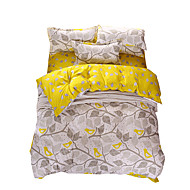 Mingjie Wonderful Grey and Yellow Leaves Bedding Sets 4PCS for Twin Full Queen King Size from China Contian 1 Duvet Cover 1 Flatsheet 2 Pillowcases