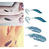 abordables -1 Tatouages Autocollants Séries animales Dessin-AniméBébé Enfant Homme Femme Tatouage Temporaire Tatouages temporaires
