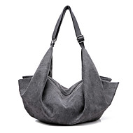 Women Bags All Seasons Canvas Shoulder Bag for Casual White Gray Brown Blue